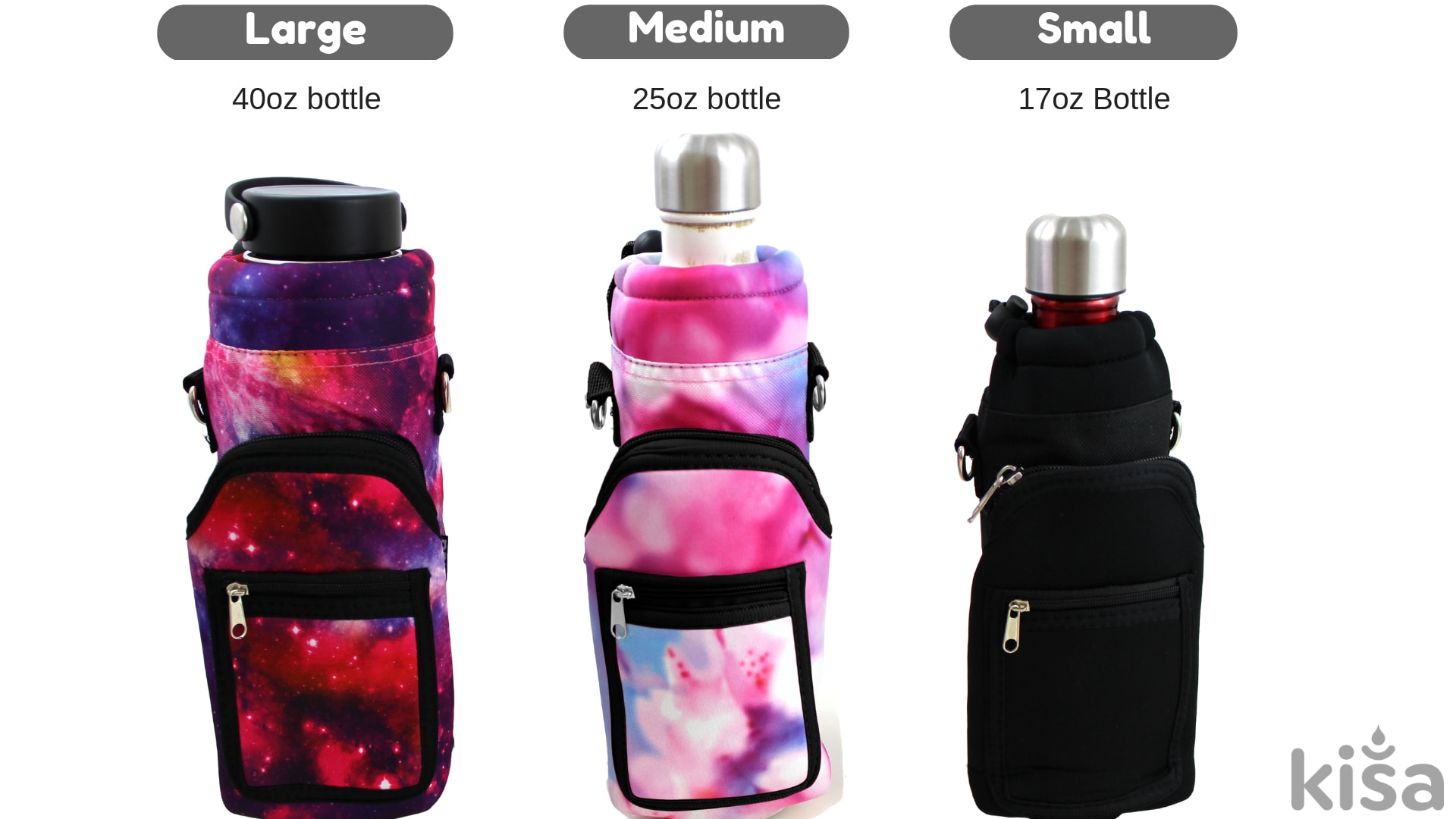 New Kisa Water Bottle Holder Carrier Flask Bottles Adjustable Shoulder Hand S..